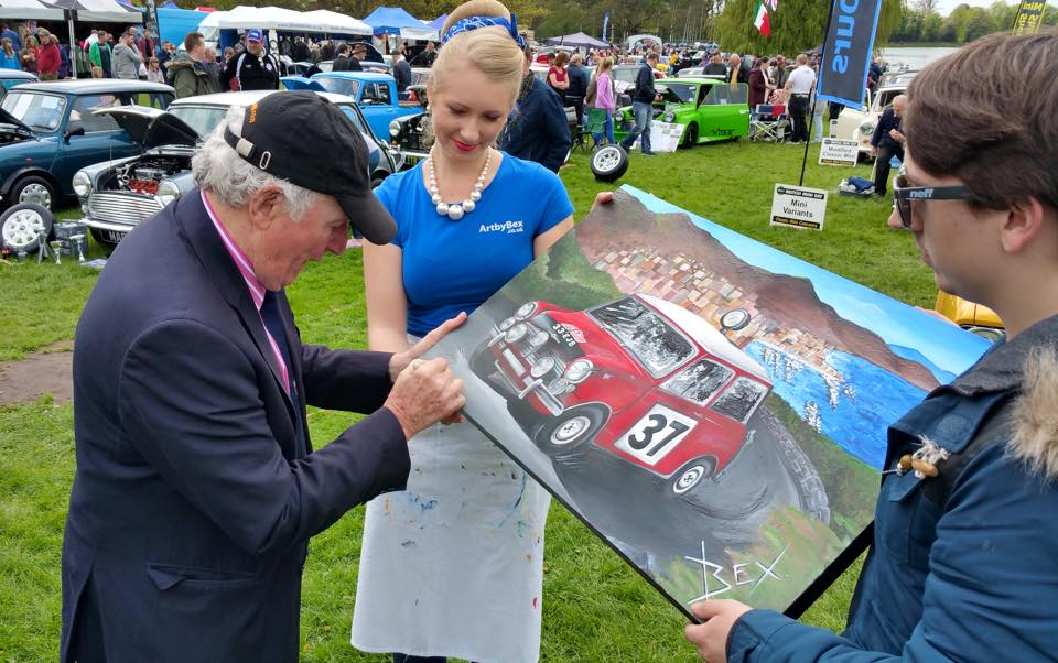 Paddy Hopkirk Presents and Signs One-Off Commission Painting