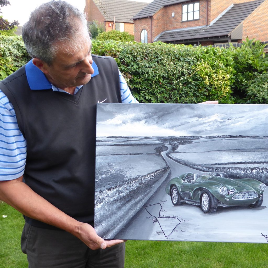 Aston Martin Db3s Captured In Art Art By Bex Commission Car Art On Canvas Mini Car Artist Bespoke Car Paintings Paint Your Car Online