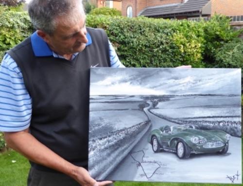 Aston Martin DB3S Captured in Art