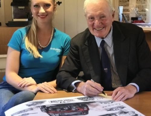 Paddy Hopkirk's Legendary Anniversary Artwork